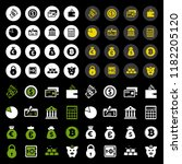 bank and finance icons set ... | Shutterstock .eps vector #1182205120
