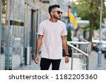 stylish indian beard man at... | Shutterstock . vector #1182205360