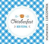 oktoberfest poster vector... | Shutterstock .eps vector #1182209836