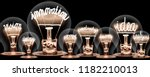 photo of light bulbs with... | Shutterstock . vector #1182210013