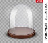 glass dome. platform for... | Shutterstock .eps vector #1182211456