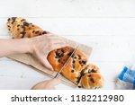 brioche of chocolate   Shutterstock . vector #1182212980