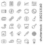 thin line vector icon set  ... | Shutterstock .eps vector #1182213160