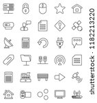 thin line vector icon set  ... | Shutterstock .eps vector #1182213220