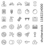 thin line vector icon set  ... | Shutterstock .eps vector #1182214000