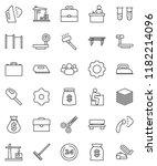 thin line vector icon set  ... | Shutterstock .eps vector #1182214096