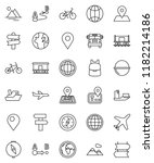 thin line vector icon set  ... | Shutterstock .eps vector #1182214186