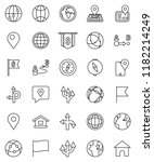 thin line vector icon set  ... | Shutterstock .eps vector #1182214249
