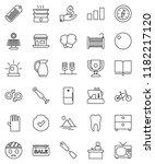 thin line vector icon set  ... | Shutterstock .eps vector #1182217120