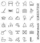 thin line vector icon set  ... | Shutterstock .eps vector #1182217210