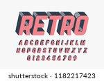 retro style font design ... | Shutterstock .eps vector #1182217423