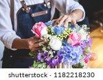 Arranging Artificial Flowers...