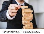 alternative risk concept  plan... | Shutterstock . vector #1182218239