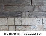 wood and stone texture... | Shutterstock . vector #1182218689