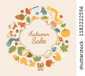 abstract autumn sales poster...   Shutterstock .eps vector #1182222556