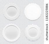 empty white round plate... | Shutterstock .eps vector #1182225886
