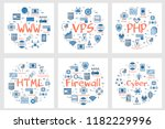 vector six business square...   Shutterstock .eps vector #1182229996