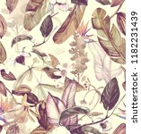 seamless watercolor pattern... | Shutterstock . vector #1182231439