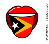 east timorese language tongue... | Shutterstock .eps vector #1182232120