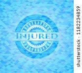 injured sky blue emblem. mosaic ... | Shutterstock .eps vector #1182234859