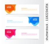 modern template of banner...   Shutterstock .eps vector #1182236356