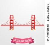 golden gate bridge icon on...   Shutterstock .eps vector #1182236899