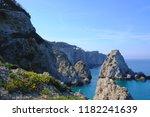 beautiful view of coast cliffs... | Shutterstock . vector #1182241639