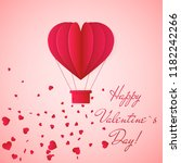 happy valentines day invitation ... | Shutterstock .eps vector #1182242266
