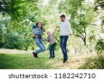 view of active and positive... | Shutterstock . vector #1182242710