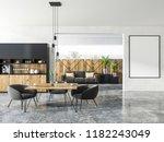 interior of studio apartment... | Shutterstock . vector #1182243049