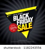 black friday sale banner layout ... | Shutterstock .eps vector #1182243556