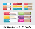 abstract vector paper tags with ... | Shutterstock .eps vector #118224484
