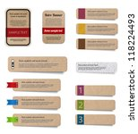 Vector cardboard paper banners collection