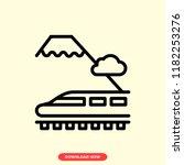 train concept line icon. simple ...