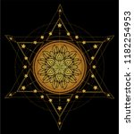 lotus and sacred geometry.... | Shutterstock .eps vector #1182254953