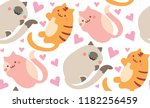 romance sweet cute kitty cat... | Shutterstock .eps vector #1182256459