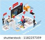 isometric flat design.concept...   Shutterstock .eps vector #1182257359