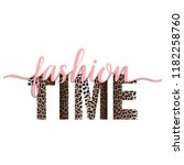 fashion time t shirt animal... | Shutterstock .eps vector #1182258760
