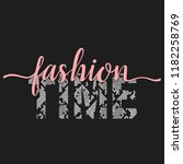 fashion time t shirt animal... | Shutterstock .eps vector #1182258769