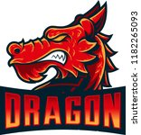 dragon head mascot with details ...   Shutterstock .eps vector #1182265093