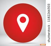 map localization icon | Shutterstock .eps vector #1182266503
