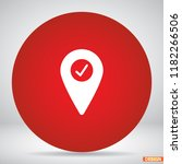 map localization icon | Shutterstock .eps vector #1182266506