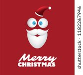 merry christmas card with funny ... | Shutterstock .eps vector #1182267946