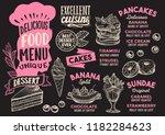 dessert menu template for...   Shutterstock .eps vector #1182284623