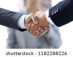 closeup.handshake of business...   Shutterstock . vector #1182288226