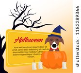 halloween background collection ... | Shutterstock .eps vector #1182289366