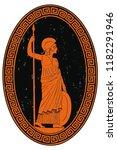 oval medallion ancient greek... | Shutterstock .eps vector #1182291946