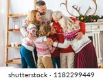 beautiful happy family... | Shutterstock . vector #1182299449