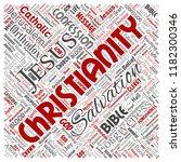vector conceptual christianity  ... | Shutterstock .eps vector #1182300346