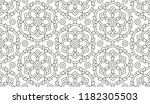 shape for coloring. floral... | Shutterstock .eps vector #1182305503